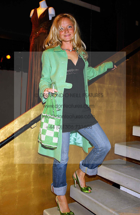 Actress LARA CAZALET at a party to celebrate the first 20 years of fashion label Donna Karan held at her store at 19/20 New Bond Street, London W1 on 21st September 2004.<br />