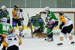 Ales Sila (HDD Tilia Olimpija, #1) during ice-hockey match between HDD Tilia Olimpija and Moser Medical Graz99ers in 10th Round of EBEL league, on October 10, 2010 at Hala Tivoli, Ljubljana, Slovenia. (Photo By Matic Klansek Velej / Sportida.com)