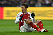Mesut Ozil (11) of Arsenal during the EFL Cup Final match between Arsenal and Manchester City at Wembley Stadium, London, England on 25 February 2018. Picture by Graham Hunt.