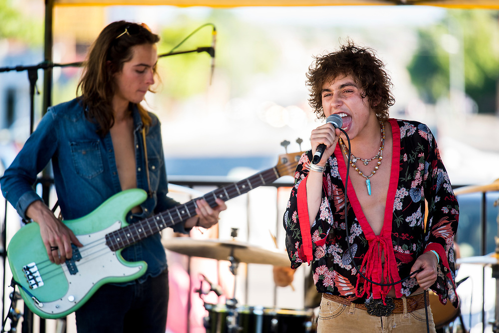 Greta Van Fleet took the stage late afternoon for some Led Zeppelin inspired originals.
