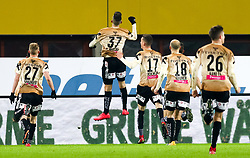 10.02.2018, Ernst Happel Stadion, Wien, AUT, 1. FBL, FK Austria Wien vs Lask, 22. Runde, im Bild Spieler des Lask jubel nach dem 1:2 durch Mergim Berisha (LASK)// during Austrian Football Bundesliga Match, 22nd Round, between FK Austria Vienna and Lask at the Ernst Happel Stadion, Vienna, Austria on 2018/02/10. EXPA Pictures © 2018, PhotoCredit: EXPA/ Alexander Forst