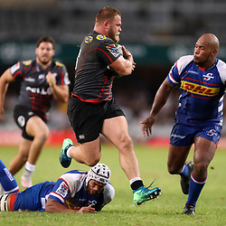 DURBAN, SOUTH AFRICA - APRIL 21: Akker van der Merwe of the Cell C Sharks during the Super Rugby match between Cell C Sharks and DHL Stormers at Jonsson Kings Park on April 21, 2018 in Durban, South Africa. (Photo by Steve Haag/Gallo Images)