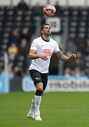 Derby County's Cyrus Christie controls the ball. - Photo mandatory by-line: Alex James/JMP - Mobile: 07966 386802 - 14/02/2015 - SPORT - Football - Derby  - ipro stadium - Derby County v Reading - FA Cup - Fifth Round