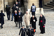 TRIBUTE TO THE VICTIMS OF 13 November 2015 in PARIS<br /> Nicolas Dupont-Aignan,Elisabeth Guigou and Cardinal André Vingt-Trois<br /> ©Exclusivepix Media
