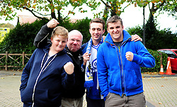 Bristol Rovers fans - Photo mandatory by-line: Neil Brookman/JMP - Mobile: 07966 386802 - 25/10/2014 - SPORT - Football - Dorchester - The Avenue Stadium - Dorchester Town v Bristol Rovers - FA Cup Qualifying with Budweiser