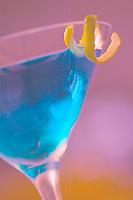 Aqua Haze Martini with Key Lime Twist