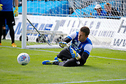 Bradford City Goalkeeper Colin Doyle (1) warms up before kick off during the EFL Sky Bet League 1 match between Gillingham and Bradford City at the MEMS Priestfield Stadium, Gillingham, England on 12 August 2017. Photo by Andy Walter.