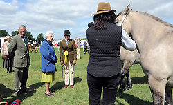 © under license to London News Pictures. WINDSOR, UK  13/05/2011.Her Majesty Queen Elizabeth II walks amongst the horses. The Royal Windsor Horse Show in the grounds of Windsor Castle today (13 May 2011). Photo credit should read Stephen Simpson/LNP.