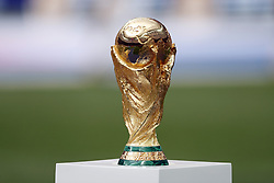 World Cup Trophy during the 2018 FIFA World Cup Russia Final match between France and Croatia at the Luzhniki Stadium on July 15, 2018 in Moscow, Russia