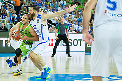 Nebojsa Joksimovic of Slovenia vs Kostas Kaimakoglou of Greece during basketball match between Slovenia vs Greece at Day 5 in Group C of FIBA Europe Eurobasket 2015, on September 9, 2015, in Arena Zagreb, Croatia. Photo by Vid Ponikvar / Sportida