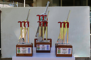 Trophies for todays game during the One Day International match between South Africa and England at PPC Newlands, Capetown, South Africa on 4 February 2020.