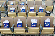 LOS ANGELES, CA - APRIL  21:  Gift bags await special guests in their seats before the game between the Atlanta Braves and the Los Angeles Dodgers on Thursday, April 21, 2011 at Dodger Stadium in Los Angeles, California. The Dodgers won the game 5-3 in 12 innings. (Photo by Paul Spinelli/MLB Photos via Getty Images)