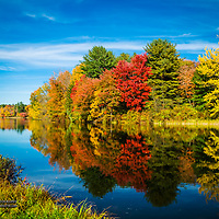 Fall reflections in Ashland, NH.<br />