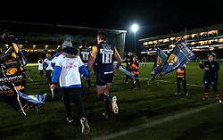 Josh Adams of Worcester Warriors runs out to face London Irish  - Mandatory by-line: Robbie Stephenson/JMP - 22/12/2017 - RUGBY - Sixways Stadium - Worcester, England - Worcester Warriors v London Irish - Aviva Premiership