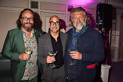 Simon King, Stanley Tucci and Dave Myers at the 2017 Fortnum & Mason Food & Drink Awards held at Fortnum & Mason, Piccadilly London England. 11 May 2017.<br /> Photo by Dominic O'Neill/SilverHub 0203 174 1069 sales@silverhubmedia.com