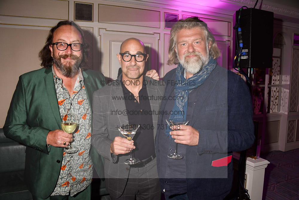 Simon King, Stanley Tucci and Dave Myers at the 2017 Fortnum &amp; Mason Food &amp; Drink Awards held at Fortnum &amp; Mason, Piccadilly London England. 11 May 2017.<br /> Photo by Dominic O'Neill/SilverHub 0203 174 1069 sales@silverhubmedia.com