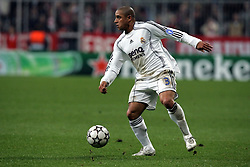 Munich, Germany - Wednesday, March 7, 2007: Real Madrid's Roberto Carlos in action against Bayern Munich during the UEFA Champions League First Knock-out Round 2nd Leg at the Allianz Arena. (Pic by Christian Kolb/Propaganda/Hochzwei) +++UK SALES ONLY+++