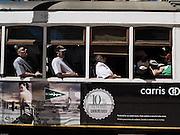 Portugal, traditional Lisbon tram Lisbon