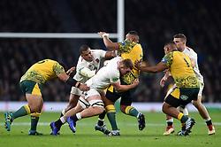 Sekope Kepu of Australia is tackled by Sam Underhill of England - Mandatory byline: Patrick Khachfe/JMP - 07966 386802 - 24/11/2018 - RUGBY UNION - Twickenham Stadium - London, England - England v Australia - Quilter International