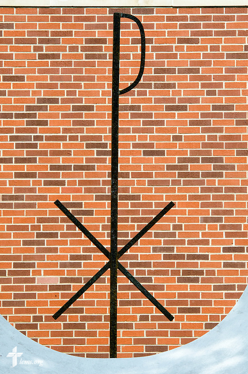 The Chi Rho sculpture on Tuesday, July 29, 2014, at Concordia University, Nebraska, in Seward, Neb. LCMS Communications/Erik M. Lunsford
