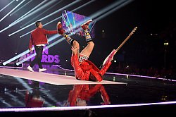 Cole Whittle and Joe Jonas of DNCE on stage at the BBC Radio 1 Teen Awards, held at the SSE Wembley Arena, London.<br /> <br /> Picture date: Sunday, 23 October, 2016. Photo credit should: Doug PetersEMPICS Entertainment