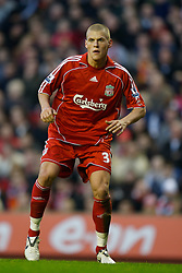 LIVERPOOL, ENGLAND - Saturday, January 26, 2008: Liverpool's .Martin Skrtel in action against Havant and Waterlooville during the FA Cup 4th Round match at Anfield. (Photo by David Rawcliffe/Propaganda)