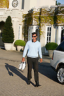 Adam Scott leaves Wentworth clubhouse, May 2011. <br /> Pictures by Mark Newcombe / visionsingolf.com