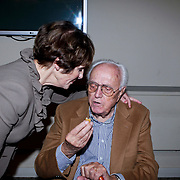 NLD/Amsterdam/20110929 - Presentatie biografie Mies Bouwman, Mies en partner Leen Timp