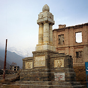 2004<br /> A little further up the mountain a second monument commemorates King Amanullah's birth in Paghman in the summer of 1892. It was a gift from students and on it are displayed the King's personal emblem plus one for education.