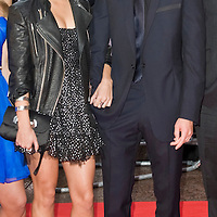 London Oct 7th  Details of  Vanessa Hudgens and Zac Efron while they attend the UK premiere of 'High School Musical 3' at the Empire cinema, Leicester Square on October 7, 2008 in London, England.