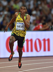 25-08-2015 CHN: IAAF World Championships Athletics day 4, Beijing<br /> Warren Weir JAM - 200 m<br /> Photo by Ronald Hoogendoorn / Sportida
