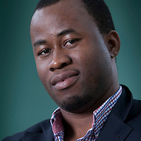Chigozie Obioma (Man Booker Prize Nominee), at the Edinburgh International Book Festival 2015.<br /> Edinburgh, Scotland. 26th August 2015 <br /> <br /> <br /> Photograph by Gary Doak/Writer Pictures<br /> <br /> WORLD RIGHTS