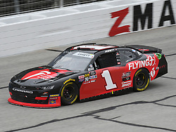 February 23, 2019 - Hampton, GA, U.S. - HAMPTON, GA - FEBRUARY 23: Michael Annett, JR Motorsports, Chevrolet Camaro Chevrolet Pilot Flying J (1) races through the corner during the Xfinity Series Rinnai 250 on February 23, 2019, at Atlanta Motor Speedway in Hampton, GA.(Photo by Jeffrey Vest/Icon Sportswire) (Credit Image: © Jeffrey Vest/Icon SMI via ZUMA Press)