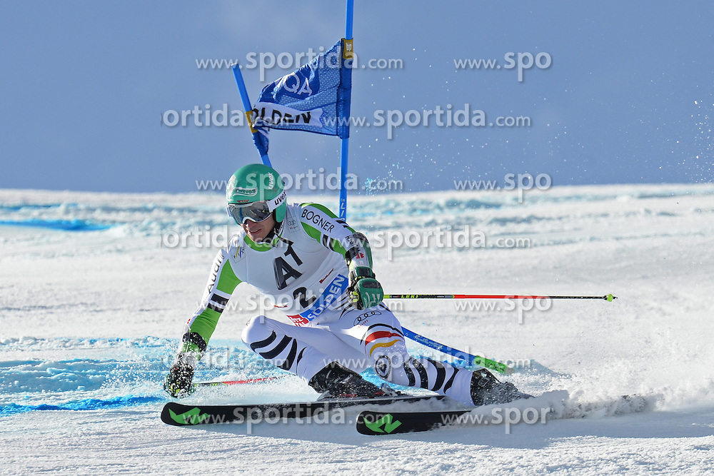 27.10.2013, Rettenbach Ferner, Soelden, AUT, FIS Weltcup, Ski Alpin, Riesenslalom, Herren, 1. Durchgang, im Bild Felix Neureuther from Germany // Felix Neureuther from Germany in action during 1st run of mens Giant Slalom of the FIS Ski Alpine Worldcup opening at the Rettenbachferner in Soelden, Austria on 2012/10/27. EXPA Pictures © 2013, PhotoCredit: EXPA/ Mitchell Gunn<br /> <br /> *****ATTENTION - OUT of GBR*****