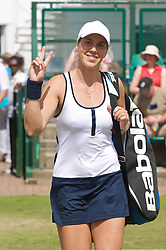 NOTTINGHAM, ENGLAND - Sunday, June 14, 2009: Olga Savchuk (UKR) on finals day of the Tradition Nottingham Masters tennis event at the Nottingham Tennis Centre. (Pic by David Rawcliffe/Propaganda)