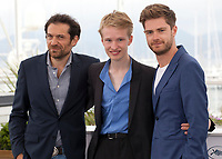 Arieh Wothalter, Victor Polster and Director Lukas Dhont at the Girl film photo call at the 71st Cannes Film Festival, Sunday 13th May 2018, Cannes, France. Photo credit: Doreen Kennedy