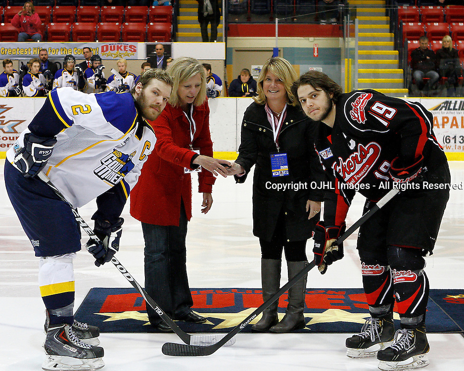 WELLINGTON, ON - May 1 : Dudley Hewitt Cup, Central Canadian Jr &quot;A&quot; Championship, Kirkland Lake Gold Miners and the Fort Frances Lakers<br /> (Photo by Brian Watts / OJHL Images)