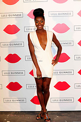 """Lulu Guinness Paint Project.<br /> AJ Odudu attends the """"Lulu Guinness paint project in collaboration with beautiful crime and their artist Joseph Steele"""" Held at the old sorting office, Oxford street,<br /> London, United Kingdom<br /> Thursday, 11th July 2013<br /> Picture by Chris  Joseph / i-Images"""