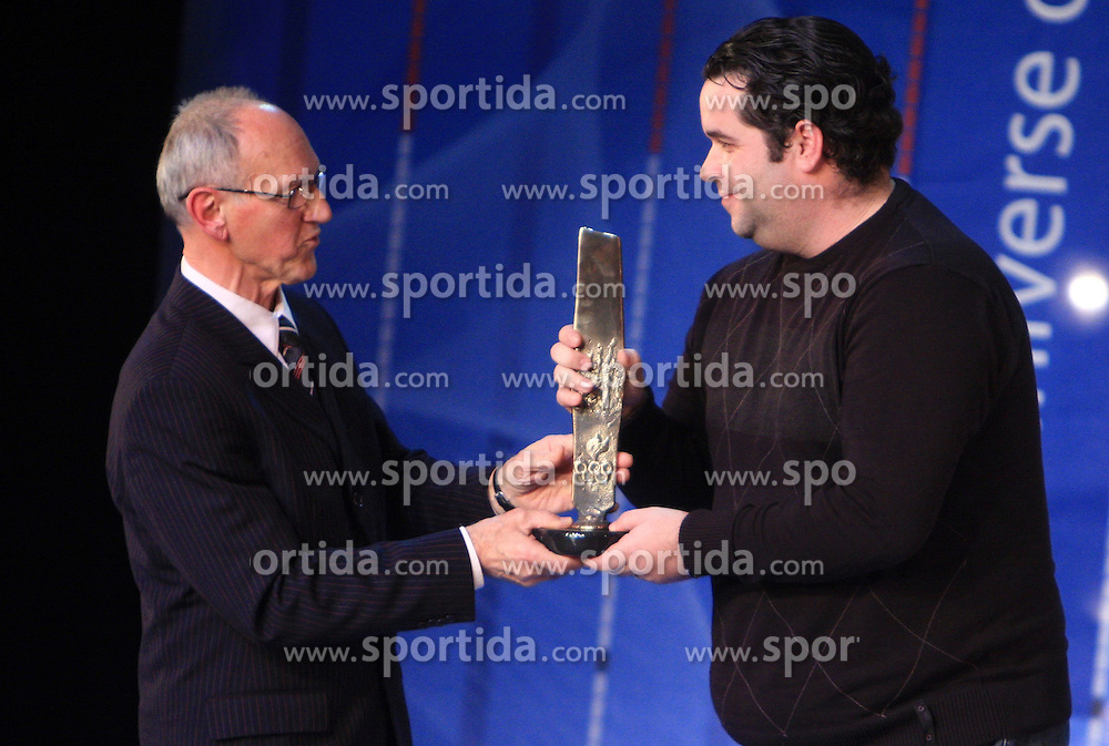 Miro Cerar and Gorazd Vecko (coach of Mateja Pintar) at  Slovenian sportsman of the year 2008 ceremony, on December 22, 2008, in Cankarjev dom, Ljubljana, Slovenia. (Photo by Vid Ponikvar / SportIda).