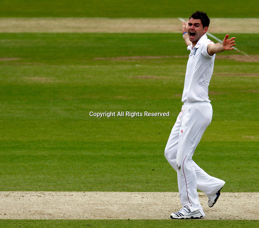 17.05.12 Lords, London. James Anderson of England claiming LBW during the Investec First Test (1st Day of 5) between England and West Indies.