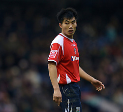 WEST BROMWICH, ENGLAND - Saturday, December 15, 2007: Charlton's Zhi Zheng in action against West Bromwich Albion during the League Championship match at the Hawthorns. (Photo by David Rawcliffe/Propaganda)