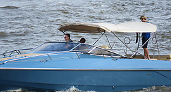 © Licensed to London News Pictures. 01/07/2018. London, UK. People ride on the tender boat from billionaire Spurs owner, Joe Lewis s latest state of the art superyacht, Aviva which arrived in London today and moors at Butlers Wharf near Tower Bridge on the River Thames. The 321 feet long multi-million pound mega yacht, Aviva the owner s fourth yacht to bear the same name, Aviva, was built in strict secrecy at a yard in Germany. Aviva is believed to feature a full-size tennis court and can accommodate up to 16 guests. London born businessman, Joe Lewis who owns Tottenham Hotspur Football Club, 80 is worth an estimated £4bn and now lives in the Bahamas. Graham Long /LNP