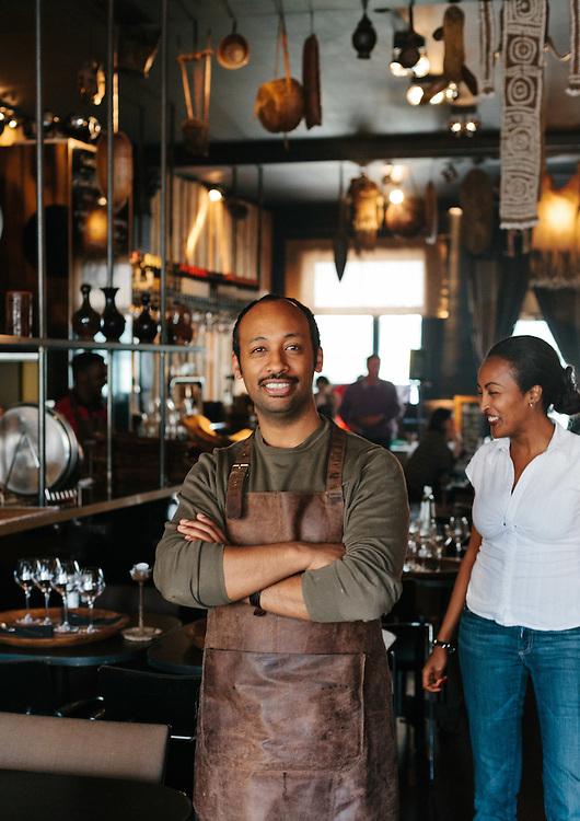 Haile Abebe, proprietor of Toukoul Ethiopian Restaurant