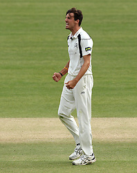 Middlesex's Steven Finn celebrates the wicket of Durham's John Hastings - Photo mandatory by-line: Robbie Stephenson/JMP - Mobile: 07966 386802 - 04/05/2015 - SPORT - Football - London - Lords  - Middlesex CCC v Durham CCC - County Championship Division One