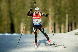Elisa Gasparin of Switzerland competes during Women 7.5 km Sprint at day 1 of IBU Biathlon World Cup 2014/2015 Pokljuka, on December 18, 2014 in Rudno polje, Pokljuka, Slovenia. Photo by Vid Ponikvar / Sportida