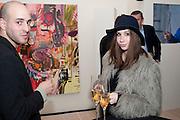 JULIO MARQUES; MIRIAM MIRO; , Richard Wilson Vertu Global Art Commission. Saatchi Gallery. Duke of York's HQ. London. 13 April 2011. -DO NOT ARCHIVE-© Copyright Photograph by Dafydd Jones. 248 Clapham Rd. London SW9 0PZ. Tel 0207 820 0771. www.dafjones.com.