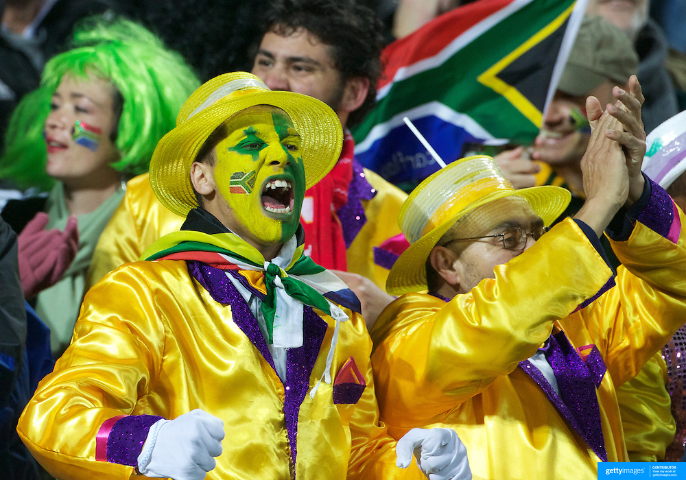 South African fans during the Wales V South Africa, Pool D match during the Rugby World Cup in Wellington, New Zealand,. 11th September 2011. Photo Tim Clayton
