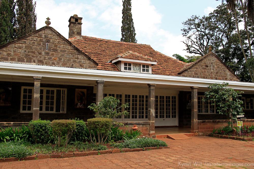 Africa, Kenya, Nairobi.  Karen Blixen historical plantation home.