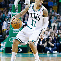 21 December 2012: Boston Celtics shooting guard Courtney Lee (11) dribbles during the Milwaukee Bucks 99-94 overtime victory over the Boston Celtics at the TD Garden, Boston, Massachusetts, USA.