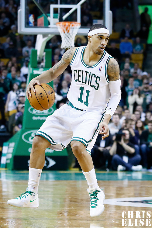 21 December 2012: Boston Celtics shooting guard Courtney Lee (11) dribbles during the Milwaukee Bucks 99-94 overtime victory over the Boston Celtics at the TD Garden, Boston, Massachusetts, USA.
